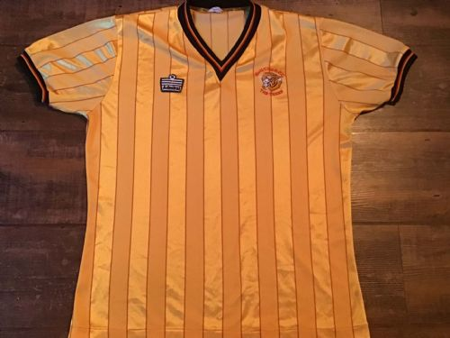 1984 1986 Hull City Home Football Shirt Large